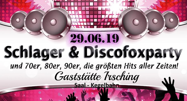 Schlager und Discofoxparty